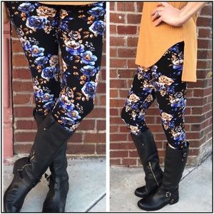 Infinity Raine floral brushed leggings